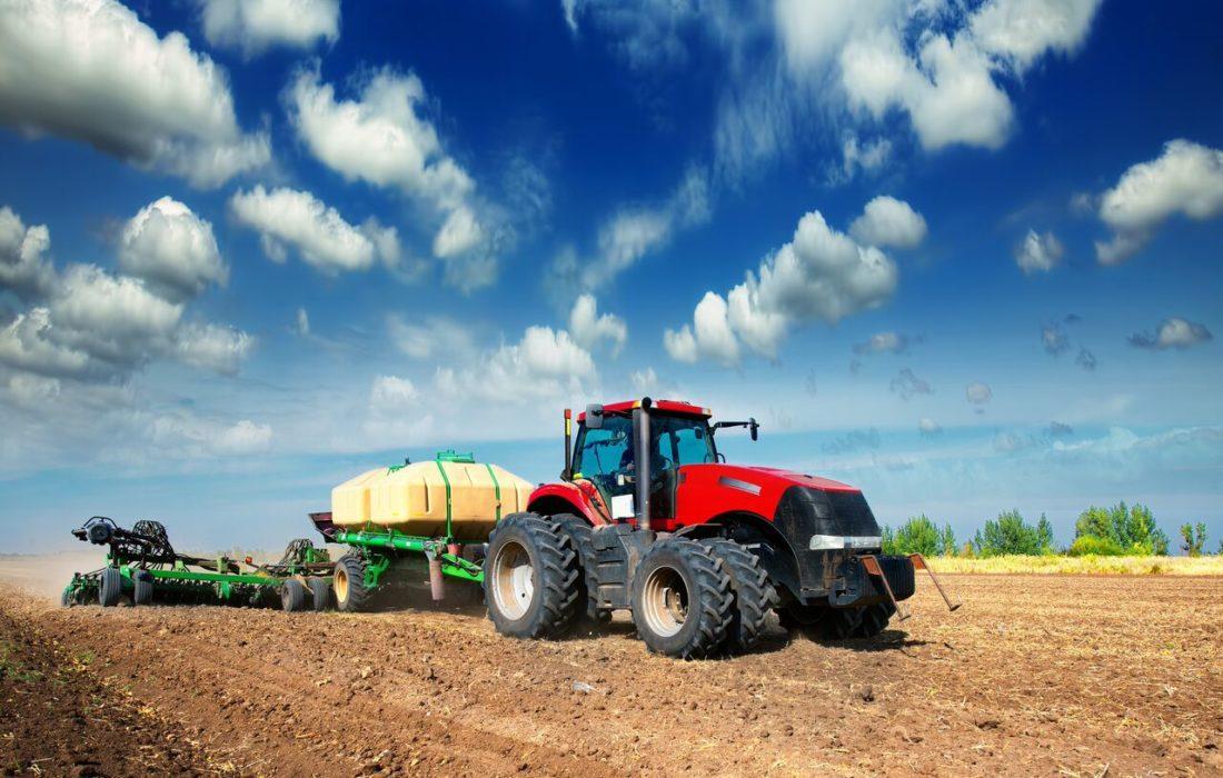 Tractor-in-field